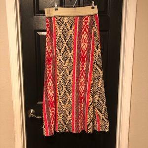 Vanessa Virginia tribal print knit maxi skirt